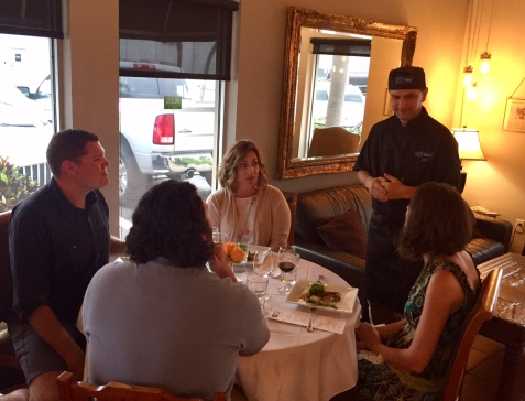 Chef Ed talking with customers