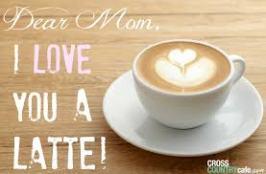 mom latte art love